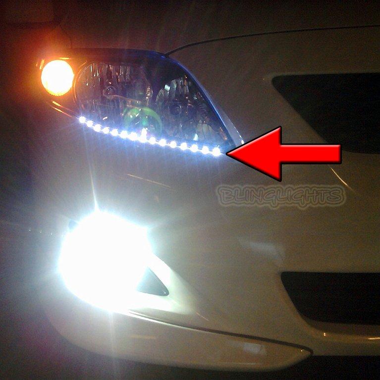 2009-2013 Toyota Corolla Head Lamp DRL Light Strips Kit Day Time Running Lights