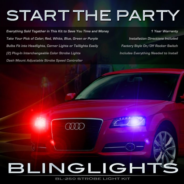 Audi A3 Police Strobe Light Kit for Headlamps Headlights Head Lamps Lights Strobes