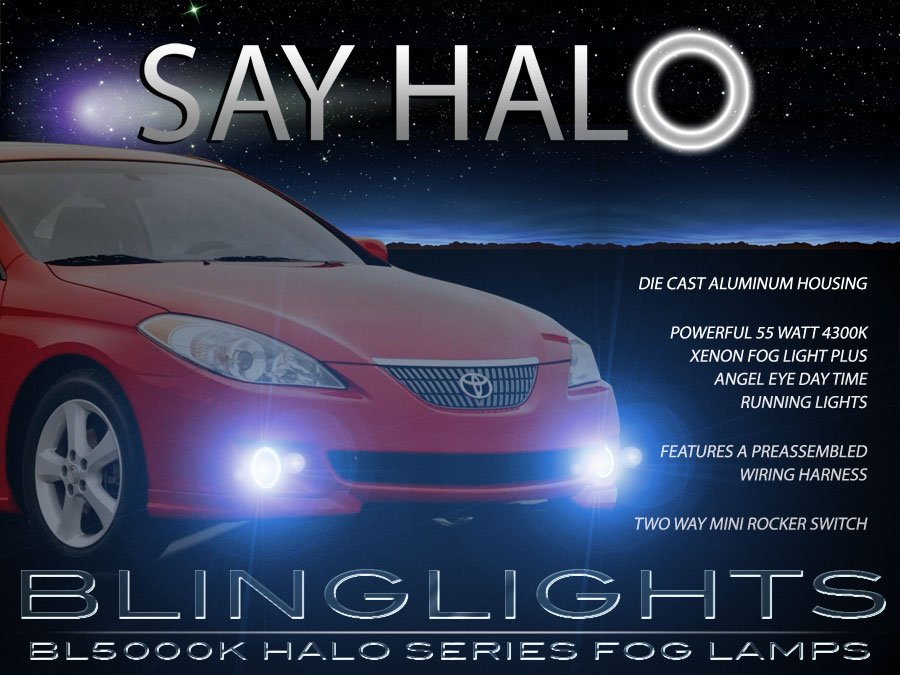 2004 2005 2006 Toyota Solara Halo Foglamps Angel Eye Fog Lamps Driving Lights Foglights Kit