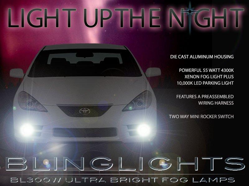 2007 2008 Toyota Solara Xenon Fog Lamps Driving Lights Foglamps Foglights Drivinglights Kit