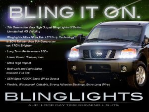 Nissan Armada LED DRL Head Light Strips Day Time Running Lamps
