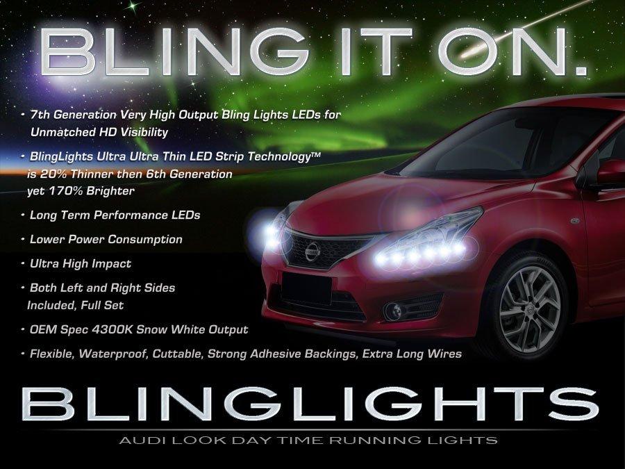 Nissan Tiida LED DRL Head Lamp Light Strips Day Time Running Kit