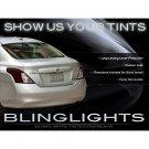 Nissan Versa Sedan Tinted Tail Lamp Light Overlays Smoked Film Protection Kit