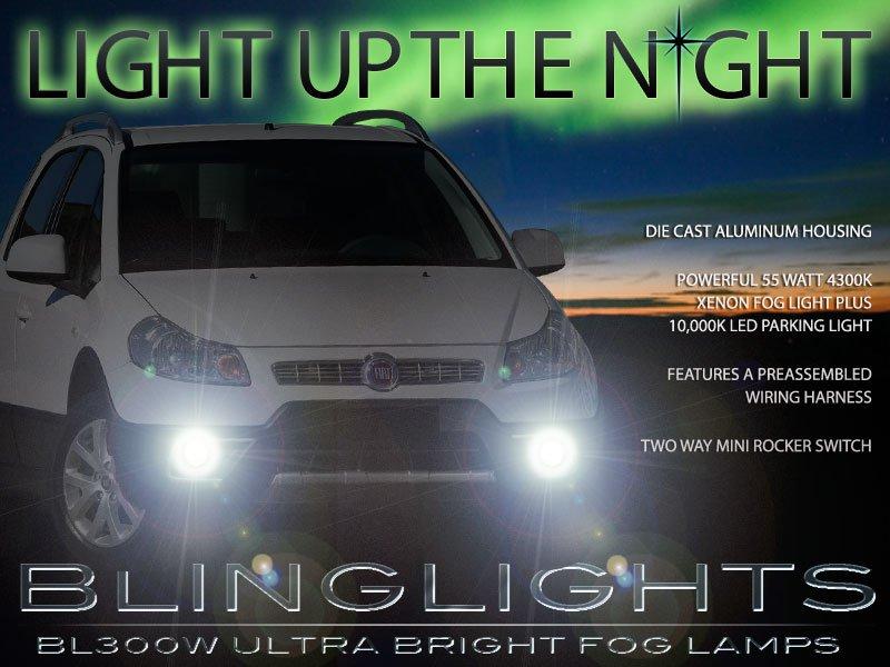 2010 2011 2012 2013 Fiat Sedici Xenon Foglamps Fog Lamps Driving Lights Foglights Kit