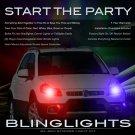 Fiat Sedici Police Strobes Pursuit Lights for Headlamps Headlights Head Lamps Strobe Light Kit
