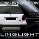 Fiat Sedici Tint Smoke Protection Overlays Film for Taillamps Taillights Tail Lamps Tinted Lights