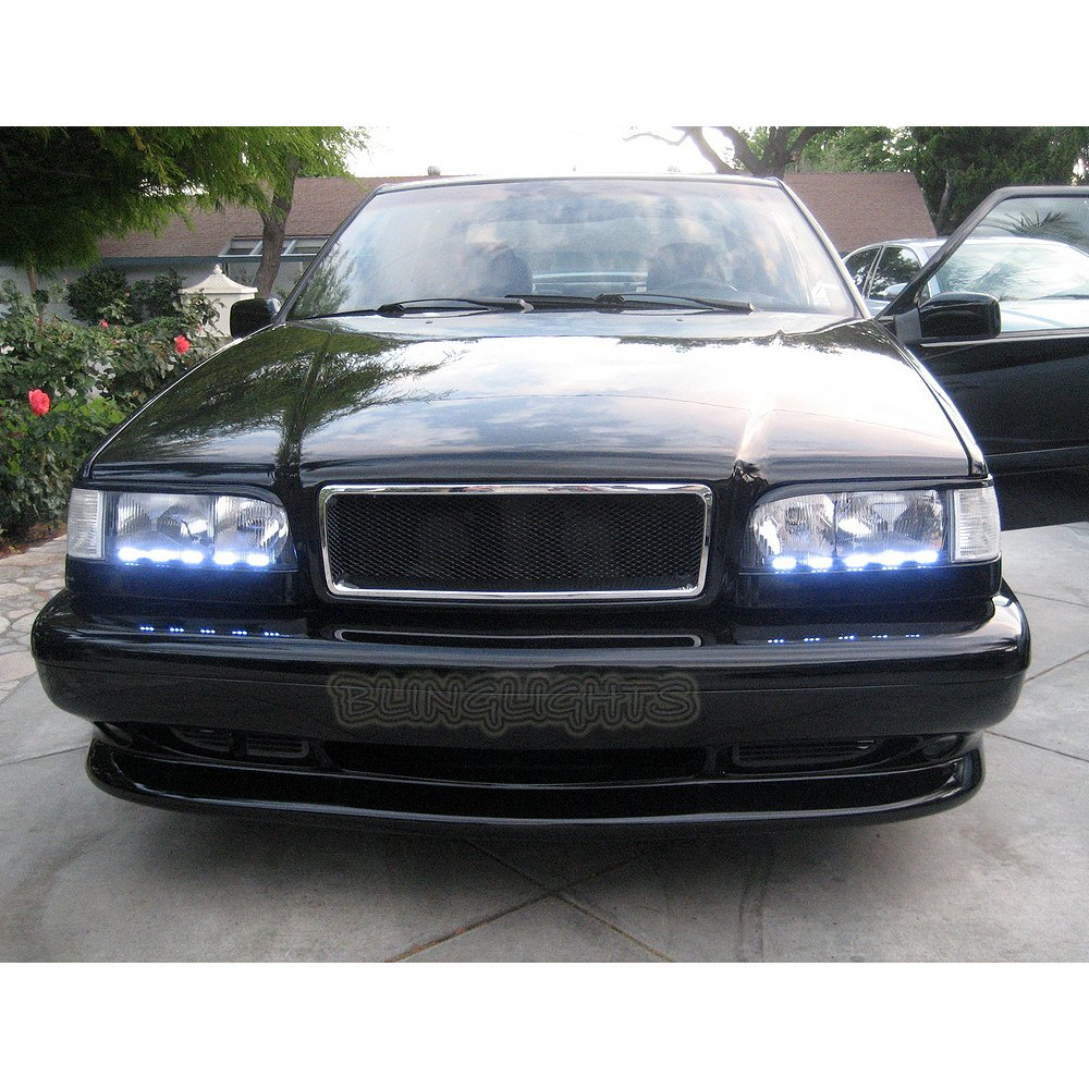 1993-1997 Volvo 850 LED DRL Light Strips for Headlamps Headlights Head Lamps Day Time Running Lights