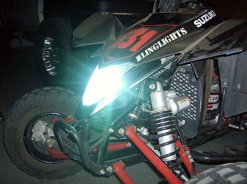 Suzuki QuadSport ATV Xenon HID Light Conversion Kit for Headlamps Headlights Head Lamps Lights