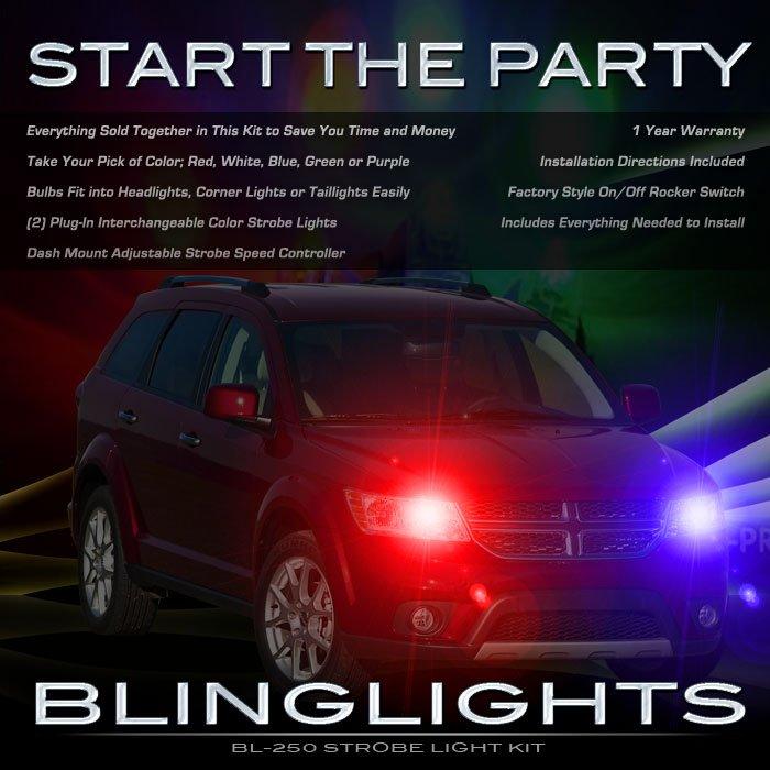 Dodge Journey Strobe Police Light Kit for Headlamps Headlights Head Lamps Lights Strobes