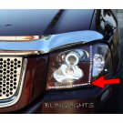 GMC Envoy LED DRL Head Light Strips Day Time Running Lamps Pair