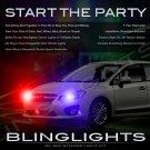 Subaru Impreza Head Lamp Police Strobe Light Kit Blue White Red Green Purple