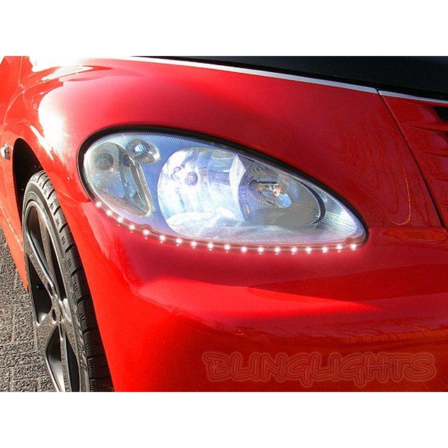 2001-2010 Chrysler PT Cruiser LED DRL Lights Strips for Headlamps Headlights Day Time Running Lamps