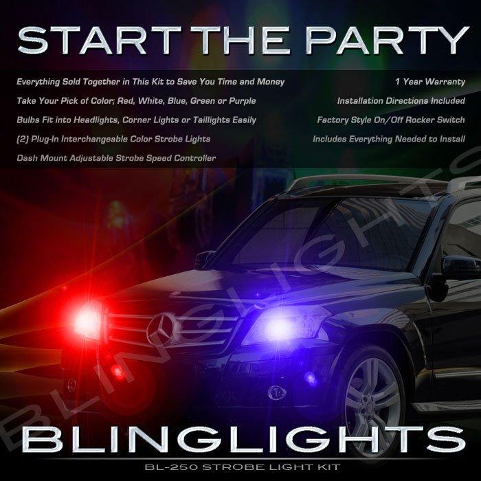 Mercedes-Benz GLK350 GLK Strobe Police Light Kit for Headlamps Headlights Head Lamps Lights Strobes