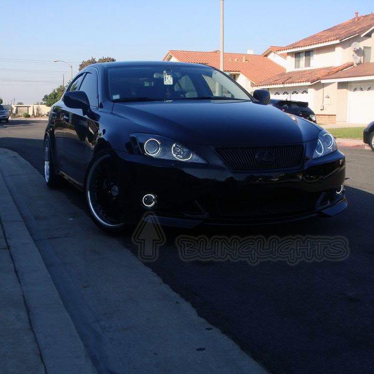 2006-2013 Lexus IS F-Style Angel Eye Fog Lamps Driving Lights Kit