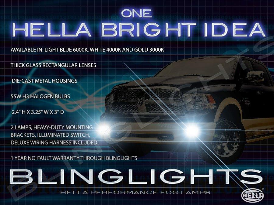 2009 2010 2011 2012 Dodge Ram 2500 3500 Xenon Fog Lamps Driving Lights Foglamps Foglights Kit