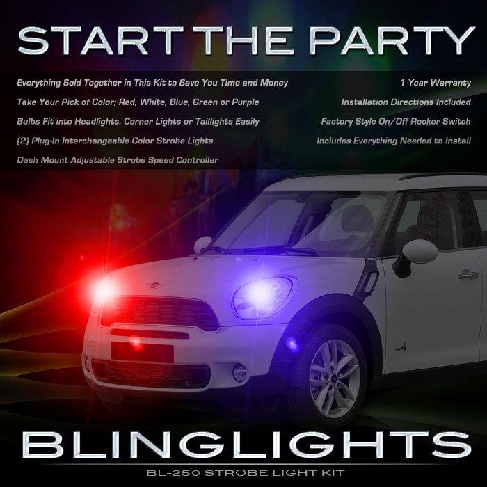2011 2012 2013 Mini Countryman Police Strobe Kit for Headlamps Headlights Head Lamps Lights Strobes