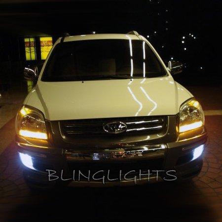 2005 2006 2007 2008 Kia Sportage Xenon Fog Lamps Driving Lights Foglamps Foglights Kit