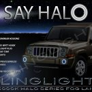 2006-2010 Jeep Commander Halo Angel Eye Bumper Fog Lamps Lights Kit
