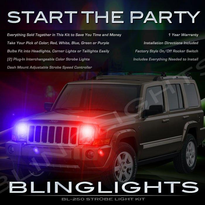 Jeep Commander Strobe Police Light Kit for Headlamps Headlights Head Lamps Strobes Lights