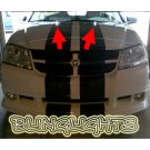 Dodge Avenger LED Strobe Washers Hood Nozzles Windshield Sprayers Lights Bonnet Lamps Strobes