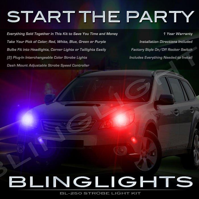Subaru Outback Strobes Police Light Kit for Headlamps Headlights Head Lamps Strobe Lights