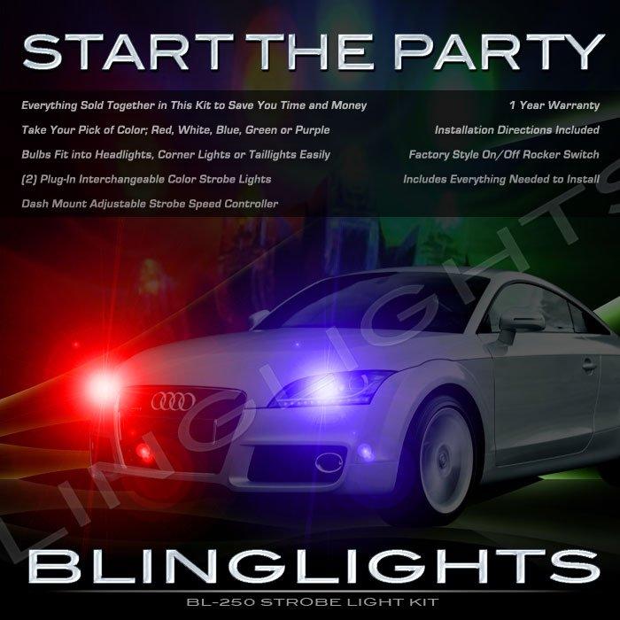 Audi TT Strobes Police Light Kit for Headlamps Headlights Head Lamps Strobe Lights