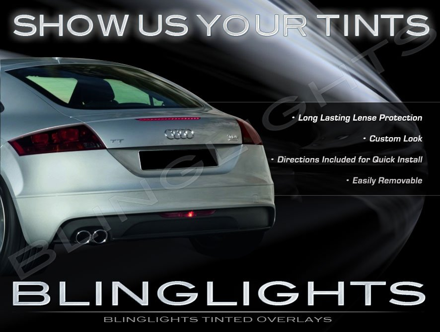 Audi TT TTS Murdered Out Tail Light Lamp Overlays Tinted Lense Film Kit