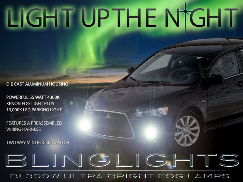 2009-2015 Mitsubishi Lancer Sportback Fog Lamps Driving Lights Kit