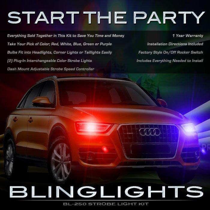 Audi Q3 Strobe Police Light Kit for Headlamps Headlights Head Lamps Strobes Lights