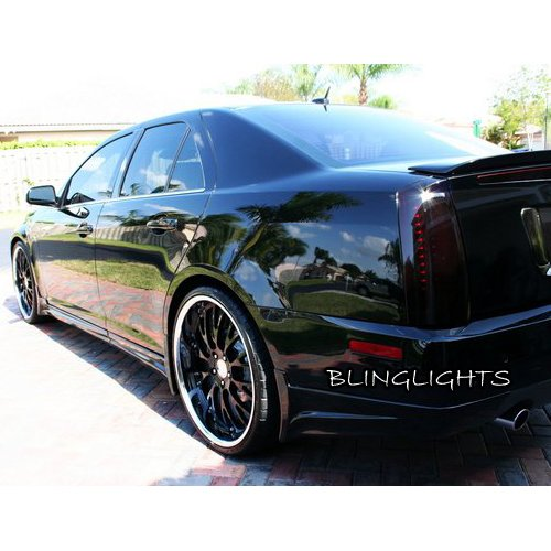 Cadillac STS Tinted Smoked Protection Overlays Film for Taillamps Taillights Tail Lamps Lights