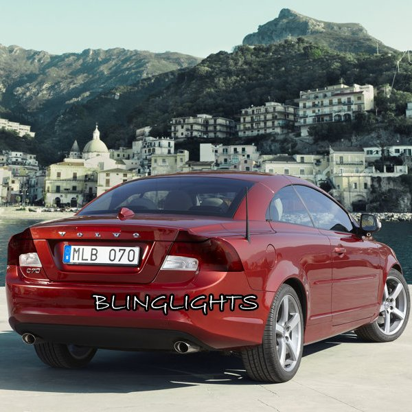Volvo C70 Tinted Smoked Taillamps Taillights Overlays Film Protection
