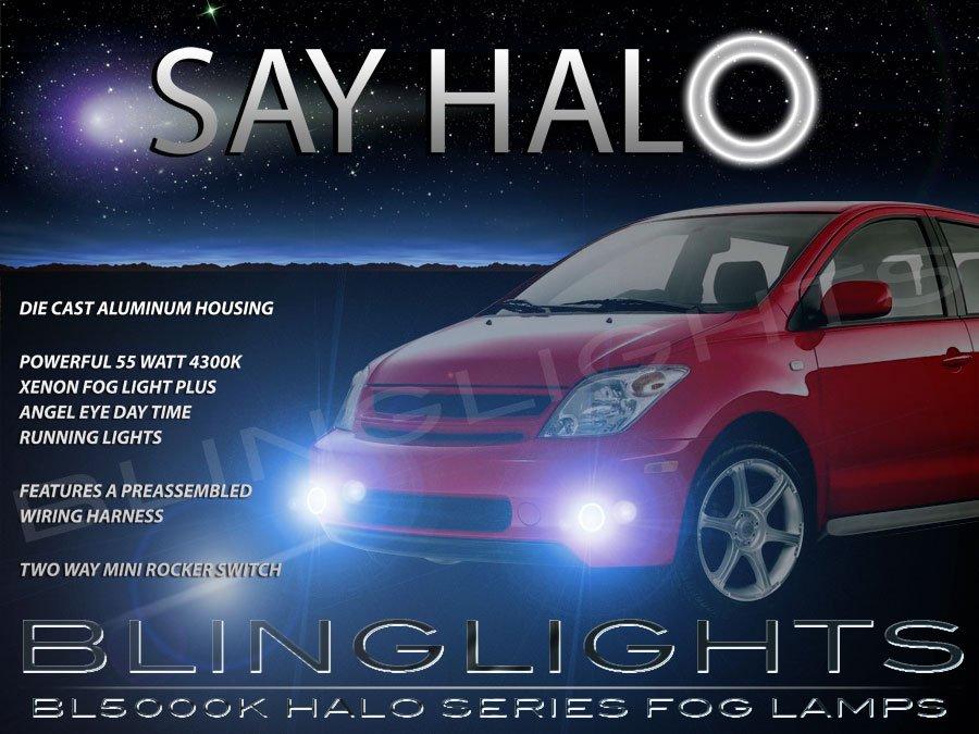 2004 2005 2006 Scion xA Halo Fog Lamps Angel Eye Driving Lights Foglamps Foglights Drivinglights Kit