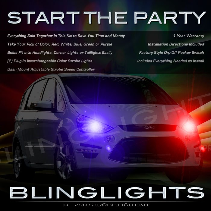 Ford S-Max Strobe Police Light Kit for Headlamps Headlights Head Lamps Lights Strobes