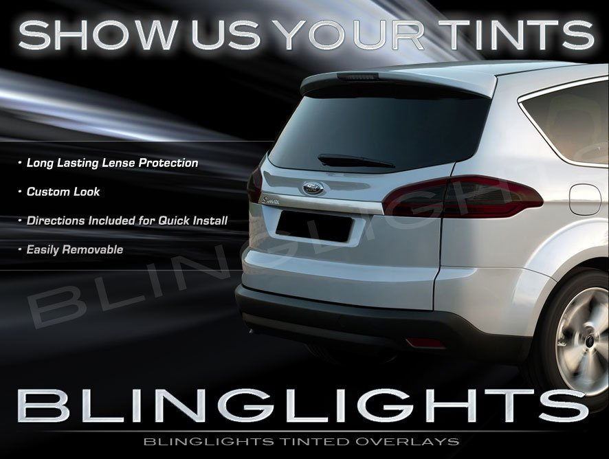 Ford S-Max Tinted Smoked Protection Film Overlays for Taillamps Taillights Tail Lamps Lights