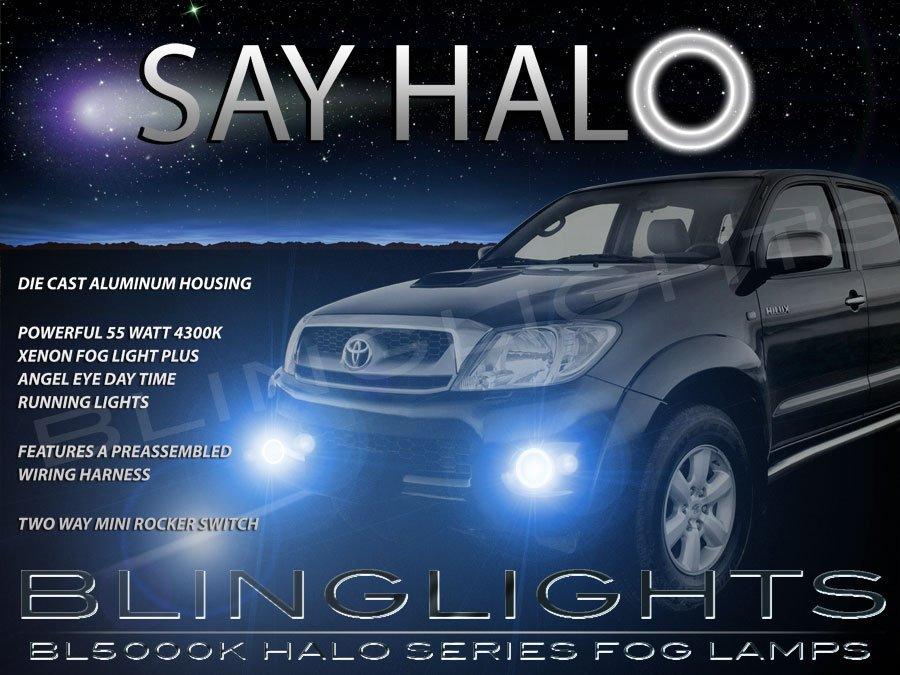 2012 2013 2014 Toyota Hilux Halo Fog Lamps Angel Eye Driving Lights Foglamps Foglights Kit