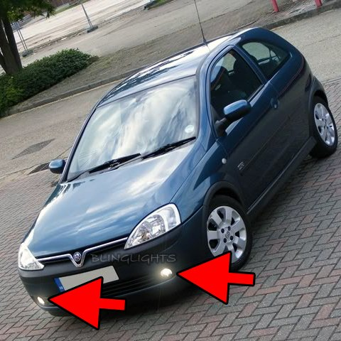 2000 2001 2002 2003 2004 2005 2006 Vauxhall Corsa C Xenon Foglamps Fog Lamps Lights Kit