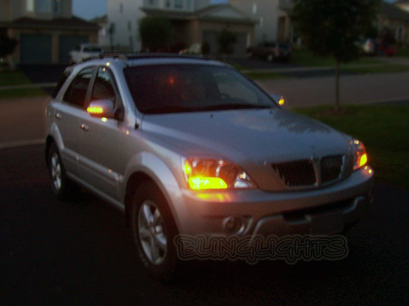 Kia Sorento LED Side View Mirror Turnsignals Mirrors Turn Signals Lights LEDs Signalers Lamps