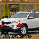 2010 2011 2012 Kia Sorento Xenon Fog Lamps Driving Lights Foglamps Foglights Kit