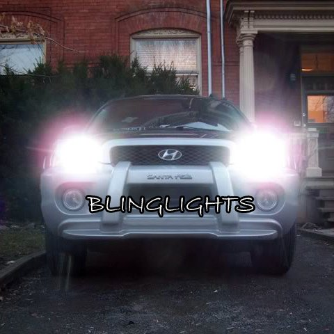2001 2002 2003 2004 2005 2006 Hyundai Santa Fe Bright White Light Bulbs for Headlights Headlamps