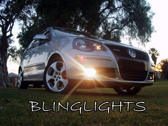 2006 2007 2008 2009 Volkswagen VW Polo Mk4 9N3 Xenon Fog Lamps Driving Lights Foglamps Foglights Kit