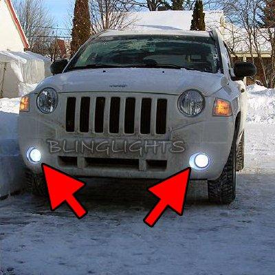 2007 2008 2009 2010 Jeep Compass Xenon Foglamps Foglights Driving Fog Lamps Lights Kit