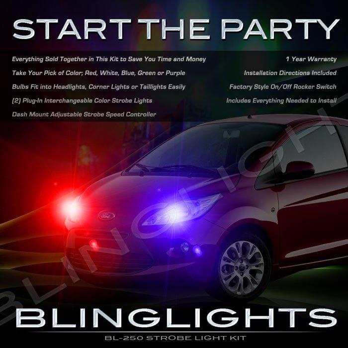 Ford Ka Strobe Police Light Kit for Headlamps Headlights Head Lamps Lights Strobes