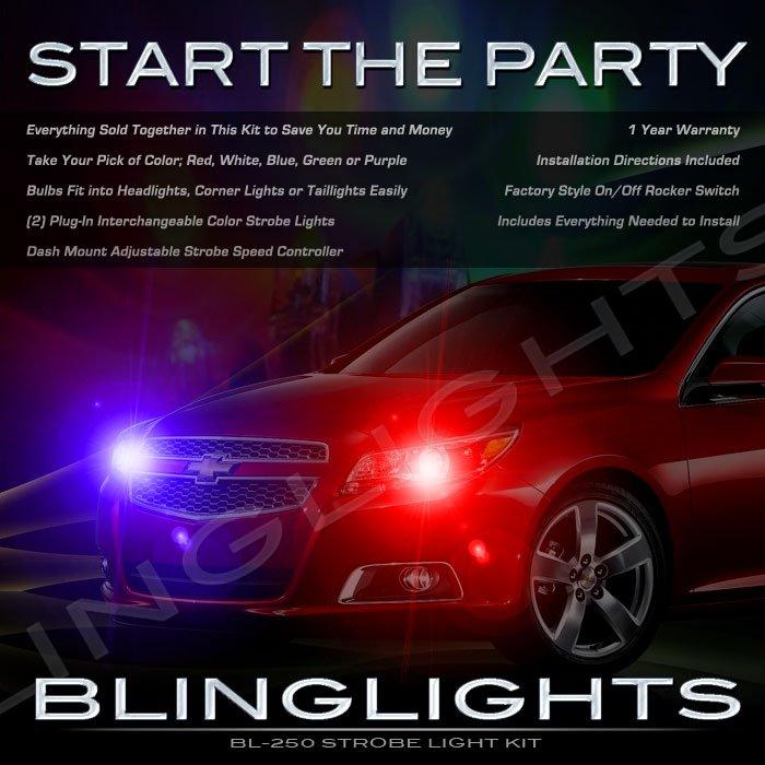 Chevrolet Chevy Malibu Strobe Police Light Kit for Headlamps Headlights Head Lamps Lights