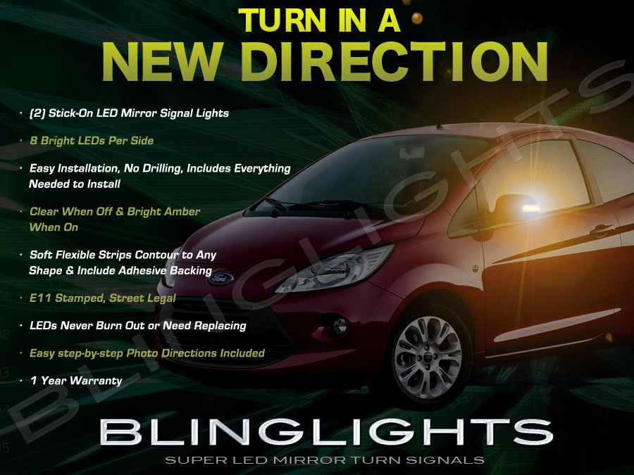 Ford Ka LED Side View Mirror LED Turn Signalers Lights