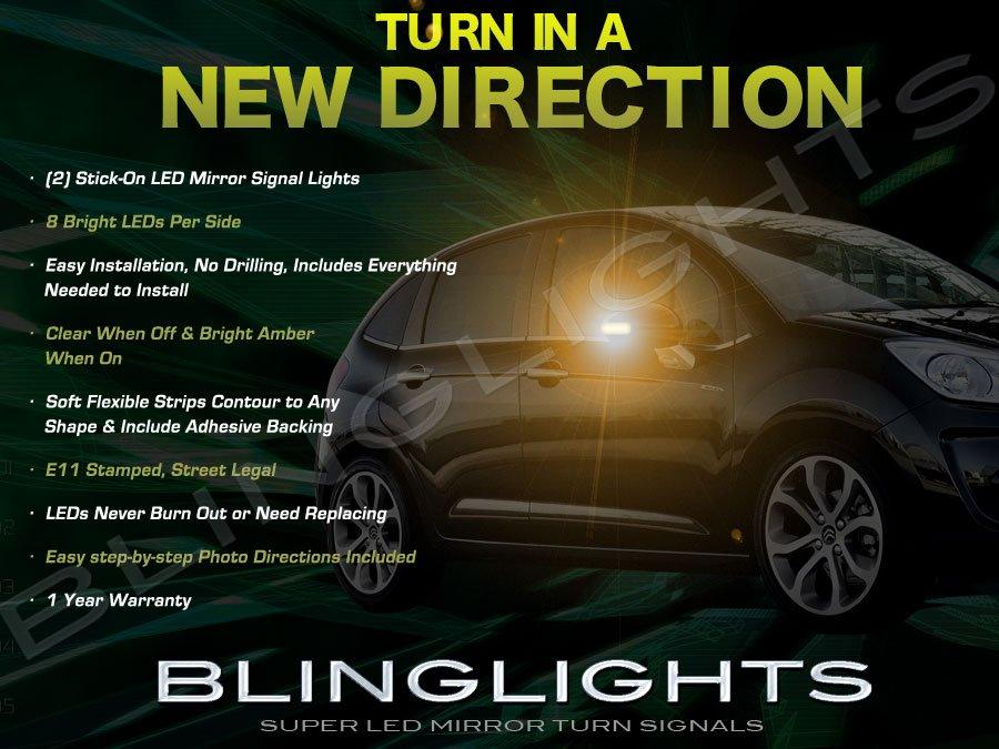 Citroën C3 LED Side Mirror Turn Signal Lights Signaler Lamps set pair
