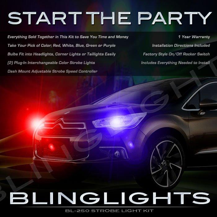 Citroen Citroën DS4 Strobe Police Light Kit for Headlamps Headlights Head Lamps Lights Strobes