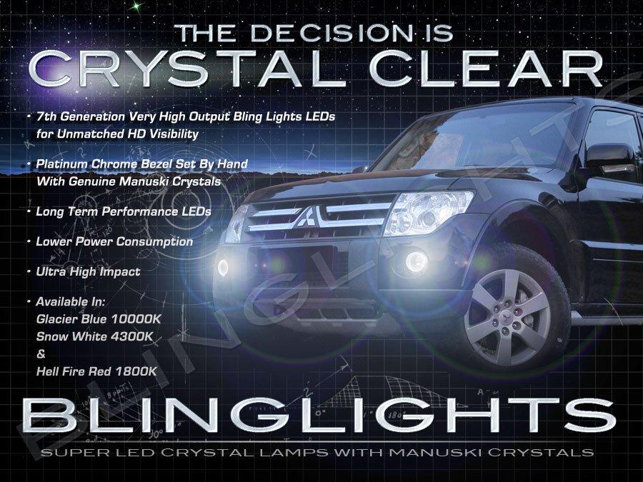 2007-2013 Mitsubishi Montero Sport Fog Lamps Lights Kit LED Foglamps Foglights Drivinglights