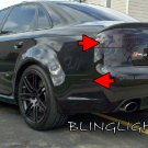 Audi RS4 Tinted Smoked Taillamps Taillights Tail Lamps Lights Protection Overlays