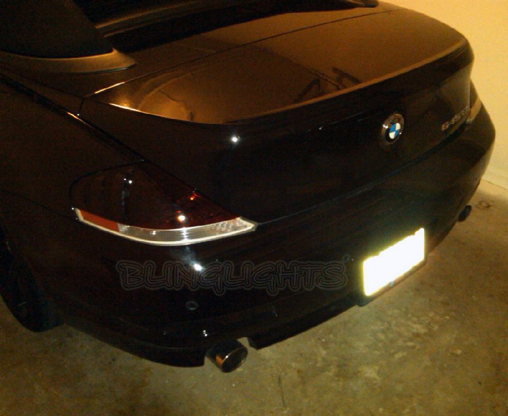 BMW 630Ci 630i E63 E64 Tinted Smoked Protection Overlays for Taillamps Taillights Tail Lamps Lights
