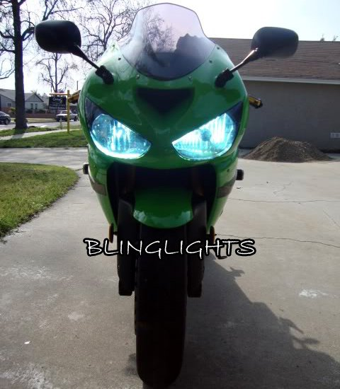 Kawasaki Ninja ZX-10R ZX10R Bright White Upgrade Replacement Light Bulbs for Headlamps Headlights